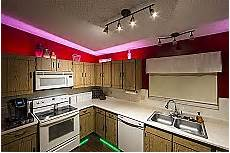 Kitchen Cabinet Light Bulbs by Led Above Cabinet Lighting Bright Leds