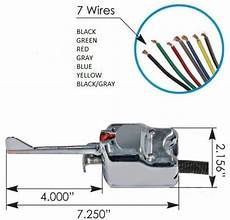 universal 7 wire chrome turn signal switch signal stat 901 equivalent 724956193011 ebay