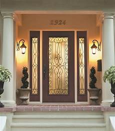 wrought iron and glass front entry door designs zabitat blog