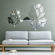 Home Decor Ideas Wall Stickers by Family Shop Lotus 3d Mirror Wall Stickers For Wall