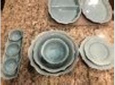 Wellsbridge 16pc Dinnerware Set Aqua   Threshold : Target