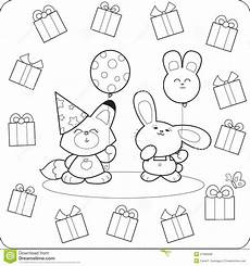 happy animals coloring pages 17007 happy birtday coloring animals royalty free stock photos image 27086658