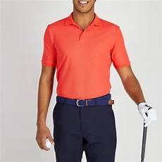 polo golf homme respirant corail