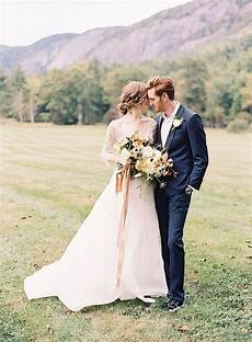 organic outdoor fall wedding in the mountains once wed