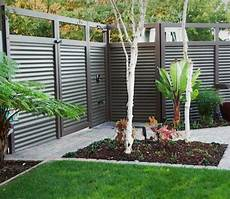 used corrugated metal as fencing images with