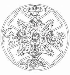 Ausmalbild Indianer Mandala Indianisches Mandala Ausmalbild Mandala Malvorlagen