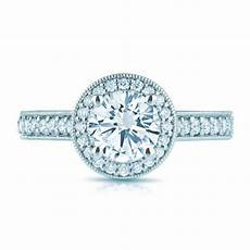 vintage inspired forever one moissanite diamond halo engagement ring moissanite engagement