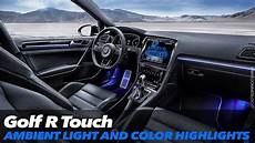 Vw Golf R Touch Ambient Light And Color Highlights Ces