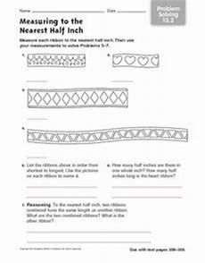 measurement to half inch worksheets 1480 measuring to the nearest half inch problem solving 13 2 worksheet for 2nd 4th grade lesson