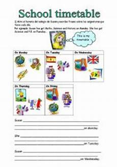 english worksheets school timetable subjects to have got