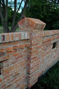 Altziegel Mauer Pfosten Antique