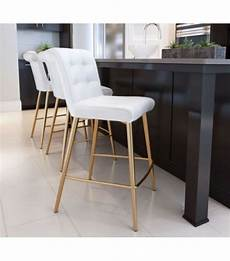 Bar Stools Gold Legs white button tufted counter or bar stool gold legs