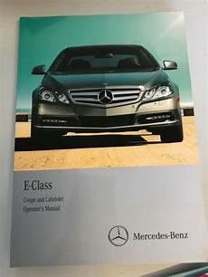 car owners manuals for sale 2011 mercedes benz e class seat position control 2011 2013 mercedes benz e class coupe convertible owners manual set e350 e550 for sale online