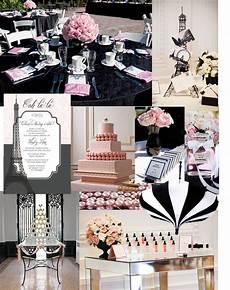 chanel bridal shower pink black and white stripes