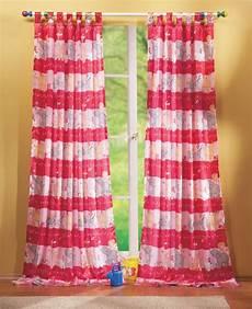 schlaufenschal kinderzimmer kinderzimmer gardine schlaufenschal set tier motiv rosa