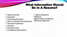 writing an effective resume and application letter