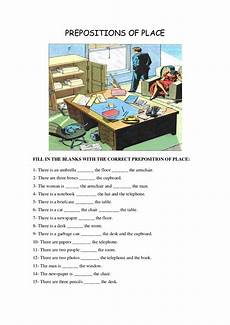 grammar worksheet there is there are with prepositions 25093 prepositions of place
