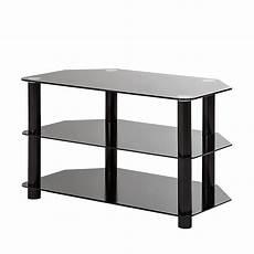 tv tisch glas tv rack schwarz glas metall tv mediam 246 bel tisch