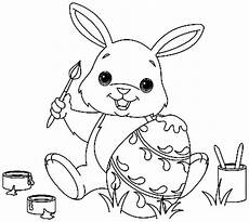 bunny free colouring pages