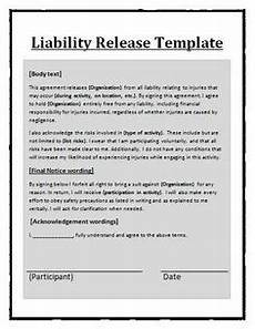 printable sle release and waiver of liability agreement form laywers template forms online