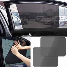 Vodool 2pcs Black Side Car Sun Shades Rear Window Sunshade