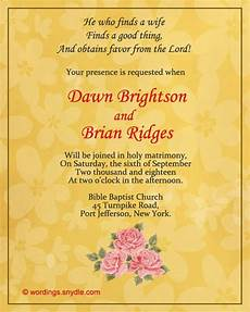Christian Wedding Invitation Wording Ideas