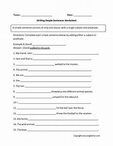 writing sentence worksheet for grade 2 22268 writing simple sentences worksheet simple sentences complex sentences worksheets sentence