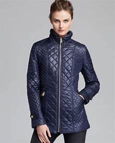 via spiga coats lyst via spiga coat quilted in blue