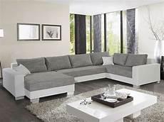 Weiß Graues Sofa - wohnlandschaft abby stoff grau und wei 223 sofa mit ottomane