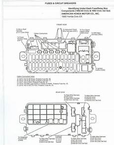 93 honda civic stereo wiring diagram 1993 accord ex 4dr dash fuse diagram honda tech