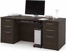 embassy dark chocolate 71 quot executive desk kit 1stopbedrooms