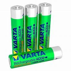 varta ready2use aufladbare aaa batterien 1000mah