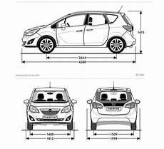 Opel Meriva 2 Fiche Technique Dimensions