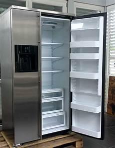 side by side kühlschrank billig ami k 252 hlschrank side by side edelstahl k 252 hlkombination