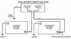 jaycorp dual battery isolation kit with 140a smart battery isolator vsr voltage sensitive relay