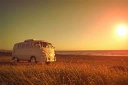 Volkswagen Transporter Beach Grass Girl Sunny