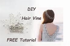 very easy diy bridal hair vine comb pin tiara tutorial