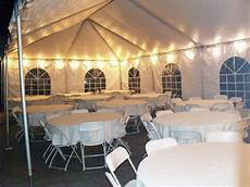 20x40 tent with lights tables linens for 60 guests diy wedding on a budget diy wedding