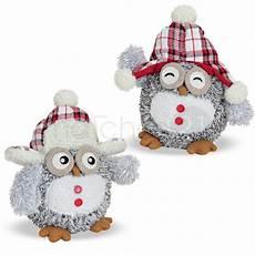weihnachtliche eulen deko figuren 2er set pl 252 sch textil