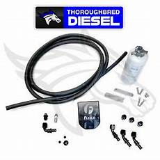 fleece auxiliary fuel filter kit for 03 18 dodge cummins 5