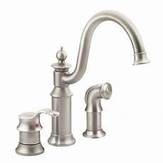 high arc kitchen faucet moen waterhill high arc single handle standard kitchen