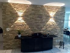 Steinoptik Wohnzimmer Wandgestaltung Steinoptik