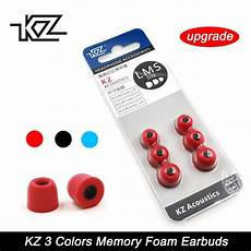 3pairs Noise Isolating Memory Foam Earbud by 100 Ori Kz 3 Pairs 6pcs Noise Isolating Memory Foam