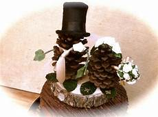 pine cone wedding topper groom rustic fall weddings