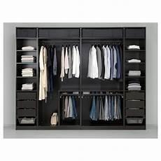Pax Wardrobe Black Brown Undredal Undredal Glass Ikea