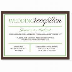 modern green and brown reception only invitations reception only invitations wedding