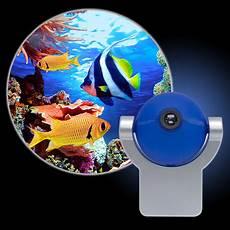 projectables tropical fish led plug in light sensing light 11296 walmart com