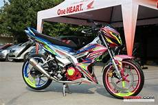 Modif Honda Sonic by Modifikasi Honda Sonic 150r Modif Ngejreng Bebek Sport