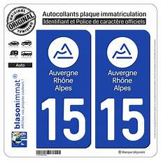 Autocollant Plaque Immatriculation Departement 15 Cantal