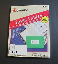 new in box avery 5163 2 4 white shipping laser labels 1000 count 100 sheets 2900548859 ebay
